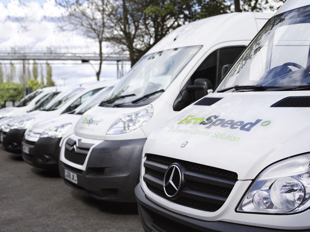 EcoSpeed fleet of vans
