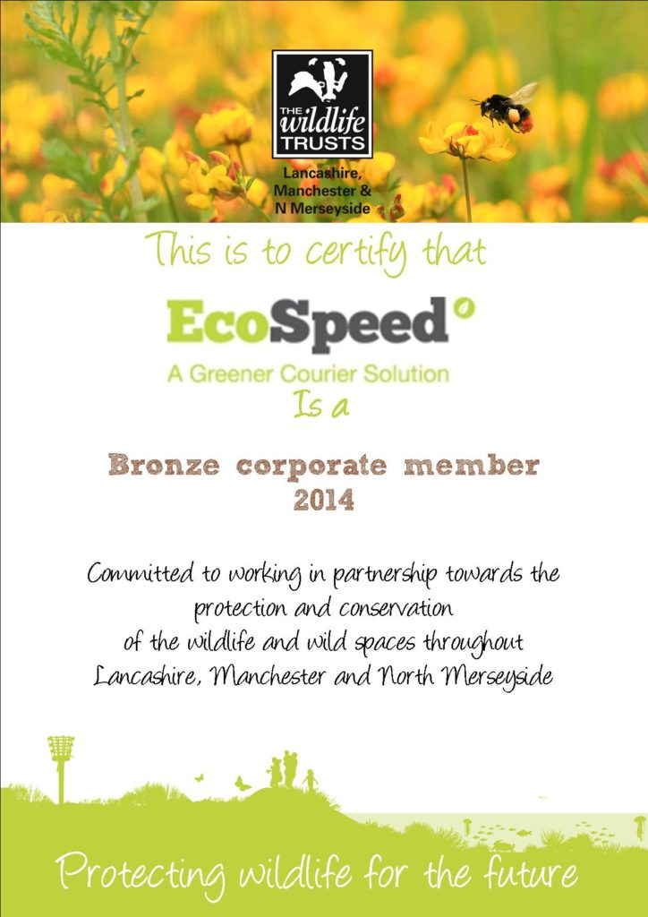 EcoSpeed Lancashire Trust Bronze Corporate Member 2014