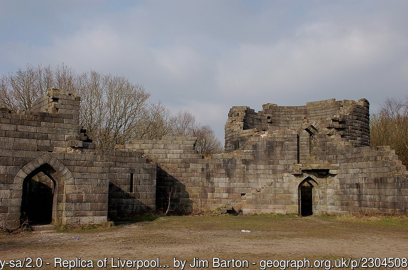 Liverpool Castle replica at Lower Rivington Reservoir
