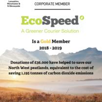 EcoSpeed Wildlife trust certificate 2018-19