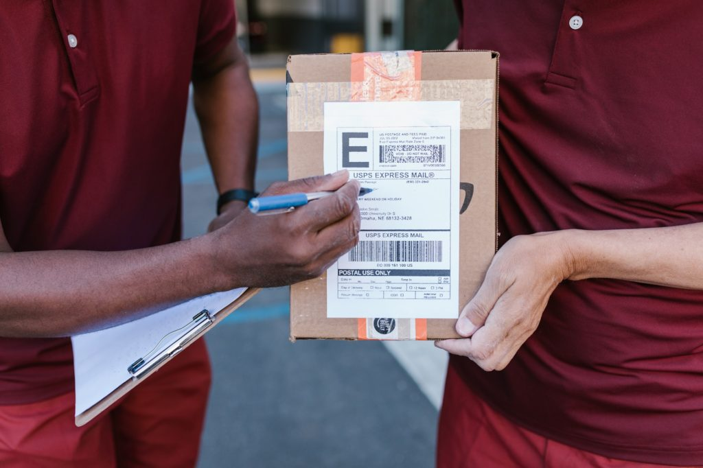employers collecting parcels